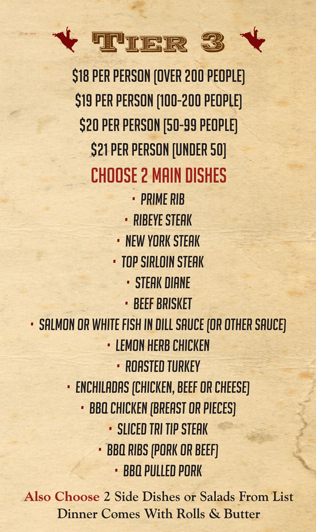 BBQ Catering Menu Tier 3